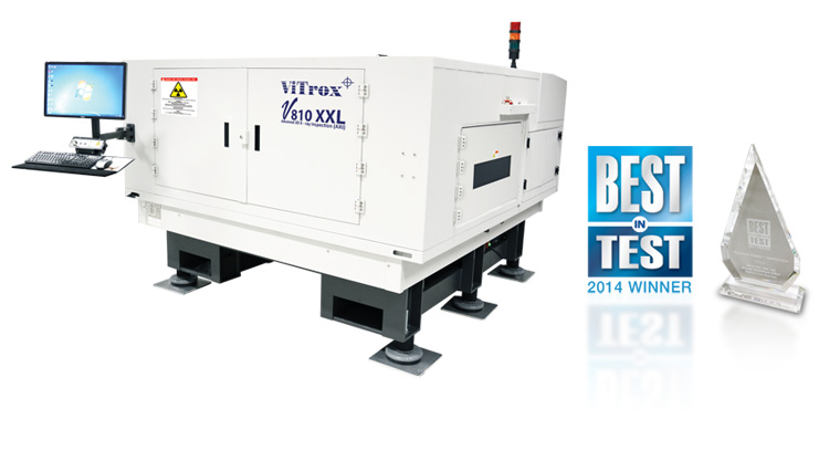 V810 XXL AXI Awarded Best in Test Award for Machine Vision